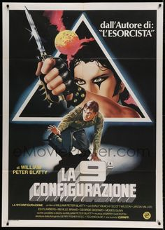 eMoviePoster.com Image For: 6p216 NINTH CONFIGURATION Italian 1p '80 William Peter Blatty, cool different art!