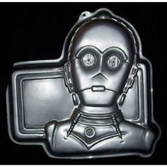 A Star Wars cake pan where you can make C3PO in cake form.