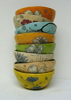 Must have bowls --- samples & paint-altered background colors