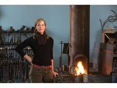 Some of the tools blacksmith Shawn Lovell has forged for her collection are traditional, others were created for a specific task; all have a beauty born of utility.