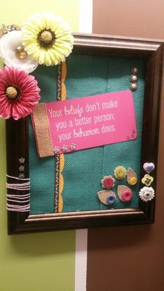 Burlap as backing. Don't throw away your old frames with no glass.  Make a cute display with what ever material you have at home.