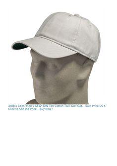 aecacaec990 adidas Caps  Men s A612 TAN Tan Cotton Twill Golf Cap adidas Caps  Men s  A612