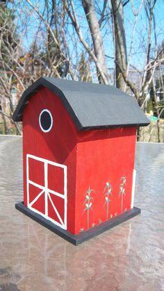 Decorative barn farm Wooden Birdhouse indoor or by DreamingDesigns, $25.00