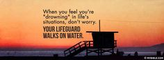 Your Lifeguard Walks On Water - Facebook Cover Photo
