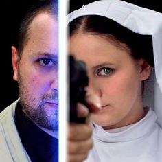 Jedi and Princess Leia cosplay.  Costumes by Rebel Princess Cosplay & Costuming.  Image by Artasyougo. 2013