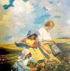 Blackberry Gatherers-Elizabeth Adela Forbes (1859 – 1912, Canadian-born English)
