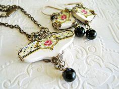 broken china | Francais Broken China Jewelry Set | Flickr - Photo Sharing!                                                                                                                                                                                 More