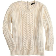 J.Crew Cable-knit pocket sweater found on Polyvore