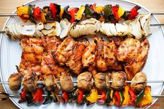 Gourmet Girl Cooks: Grilled Chipotle Chicken Thighs & Veggie Kebabs - Easy Low Carb