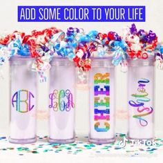 Rainbow Decal sticker for cups, wine glasses, cars, diy, Christmas gifts, birthday presents. Custom Stickers, Wall Stickers, Vinyl Decals, Wall Decals, Monogram Decal, Monogram Letters, Diy Party Decorations, Christmas Decorations, Yeti Cup