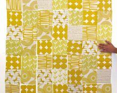 DIY Fabric Squares - Gold & Yellow