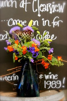 at Clearview Estate Winery, Hawke's Bay Everything Is Possible, Flower Wall, Beautiful Flowers, Wedding Flowers, Dreaming Of You, Wreaths, Halloween, Floral, Door Wreaths