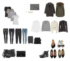 """""""Five piece French wardrobe: basics"""" by nikk ❤ liked on Polyvore featuring Tomas Maier, The Row, Reed Krakoff, IRO, The Kooples, Chanel, Donna Karan, Étoile Isabel Marant, Givenchy and T By Alexander Wang"""