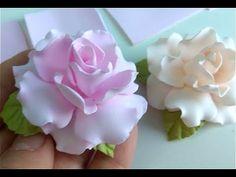 Так Просто Розы из Фоамирана я еще не делала🌺 На Резинку 🌺 Заколку🌺Ободок - YouTube Clay Flowers, Fabric Flowers, Flower Pots, Potted Flowers, Kanzashi Tutorial, Flower Tutorial, Paper Flower Decor, Flower Crafts, Gum Paste Flowers