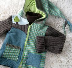 "recycled hoodie- not sure I'm ambitious enough to ""want to make"" but it's great!"