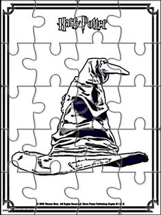 Printable jigsaw puzzles to cut out for kids Harry Potter 11 Coloring Pages - Christina Natal Do Harry Potter, Harry Potter Navidad, Classe Harry Potter, Cumpleaños Harry Potter, Harry Potter Classroom, Harry Potter Christmas, Harry Potter Birthday, Harry Potter Activities, Harry Potter Books