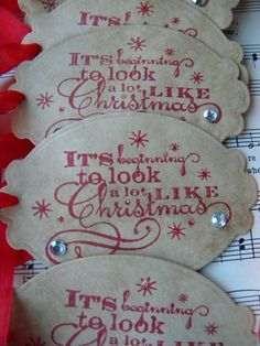 Christmas Tags It's Beginning to Look a lot by LittlePumpkinPapers, $5.50