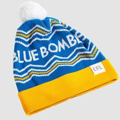 CFL Winnipeg Blue Bombers Toque.   Dress in style this winter with the Blue Bombers toque. Whether you're just walking through the streets of Winnipeg or in the stands at Investors Group Field, make sure you #RepYourHood with this limited edition toque.  An official Tuck Shop and CFL collaboration.  Proudly Made in Canada. Winnipeg Blue Bombers, Investors, Collaboration, Beanie, Walking, Canada, Group, Knitting, Winter