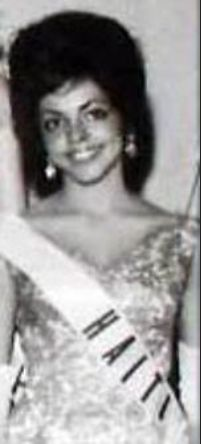 """""""The first woman to break the color barrier was Haiti's black entrant Evelyn Miot upon gaining the right to compete for the semis during the 1962 Miss Universe Pageant on Floridian soil, what had seemed highly improbable days ago at a time when the black women were not allowed to participate in the beauty pageants.This amazing girl also was the first Haitian woman to enter the top 15  she paved the way for generations of black beauties."""