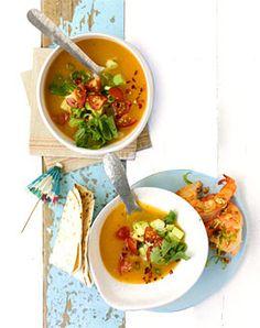 Kalte Süss-Kartoffelsuppe - Rezepte -   Süße Kartoffel? + Gegrillte Shrimps + Chicken Paillards