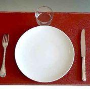 Set de table Uno cuir rouge