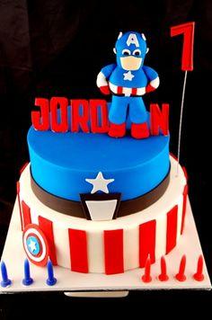 Jordan's Captain America on Cake Central