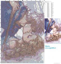 Schema punto croce Elsa e Jack