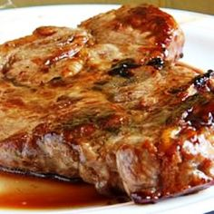 slow~cooked pork chops