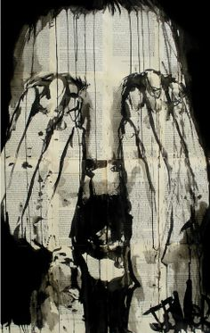 "Saatchi Online Artist: Loui Jover; Ink 2013 Drawing ""scream"""