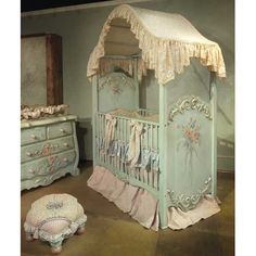 Enchanted Seaside Canopy Crib