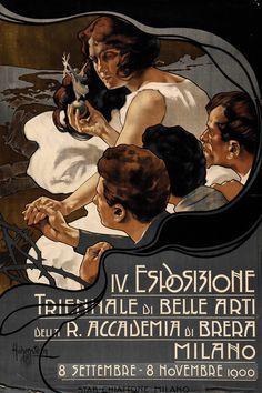 Adolf Hohenstein - IV Esposizione triennale di belle arti Milano - 1900 - Accademia di belle arti di Brera