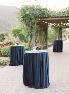 La Tavola Fine Linen Rental: Velvet Navy | Photography: Carlie Statsky and Michelle Beckwith Photography, Planning & Design: E Events Co, Florals: Seascape Flowers, Venue: Carmel Valley Ranch, Rentals: Chic Event Rentals and Revival Vintage Rentals, Tent: Zephyr Tents, Lighting: Got Light