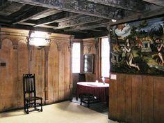 16th century english oak panelled room