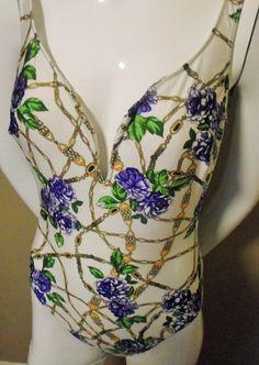 Fabulous Bold Print  Vintage Swimsuit by trashybeasts on Etsy, $17.95