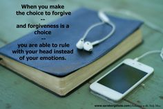 A conversation with my son about forgiveness. How we can teach our children -- and ourselves -- to rule with our head and not our emotions.