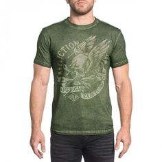 Archaic by Affliction Homme à Manches Longues Thermal Shirt Spike Ailes Biker UFC 58 $
