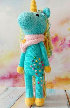 shy unicorn amigurum