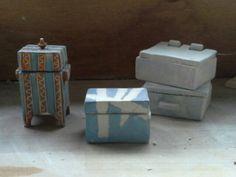 Keramieken kistjes Petra Creemers-Linders