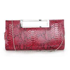Sassy PU Handbag With Serpentine Pattern   Read More:   http://www.fashionant.com/sassy-pu-handbag-with-serpentine-pattern.html