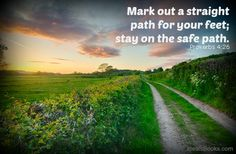 Mark out a straight path...