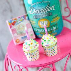 Birthday Protein Cupcakes