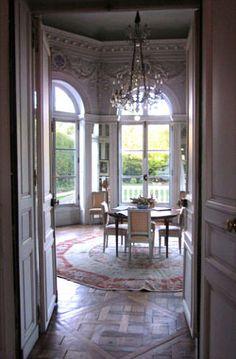 Summer room, Pavillon de Musique de la Comtesse du Barry, Louveciennes, France (approx. 15 km from Paris)