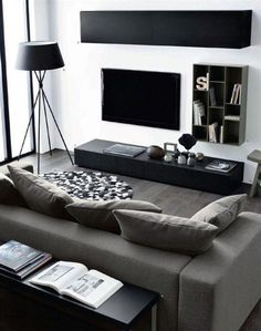 30 ideas apartment living room white home Manly Living Room, Living Room White, Living Room Colors, Living Room Grey, Living Room Modern, Living Room Interior, Home Living Room, Apartment Living, Men Apartment