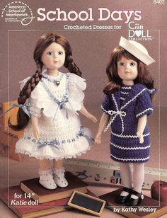 School Days Crochet Pattern Book by ToysFromTheAttic on Etsy, $4.00