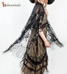 Nataya Edwardian 1920s tea dress with sequined shawl from Bohomonde