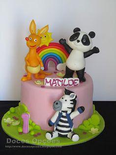 Doces Opções: Bolo do 1º aniversário da Matilde com o Panda e os... Party Animals, Animal Party, Baby Girl Birthday, Birthday Cake, Bolo Fresco, Red Velvet, Panda Party, Chocolate, 1