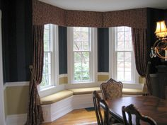 Custom Window Treatments Washington Pa and Pics of Drapery Topper Ideas. Diy Window Blinds, Window Cornices, Bay Window Curtains, Cool Curtains, Custom Curtains, Curtains With Blinds, Cheap Curtains, Window Coverings, Burlap Curtains