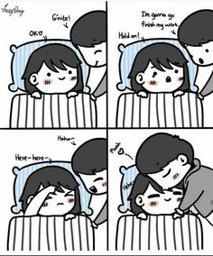 You'll be the last thing I think of before I fall asleep and the first thing of I think when I wake up💓🙈💏👫😚😍 Tag Ur bae❤️💏😍👫 Tag a person… Love Cartoon Couple, Cute Couple Comics, Couples Comics, Cute Love Cartoons, Anime Love Couple, Cute Comics, Couples Humor, Couple Art, Cute Love Images