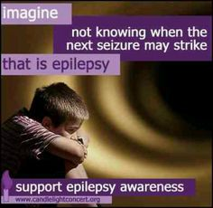 November is #Epilepsy Awareness Month. This is so true. It is a stressful life sometimes.