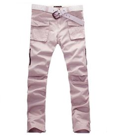 Sporty Big Pocket Beige Long Pants